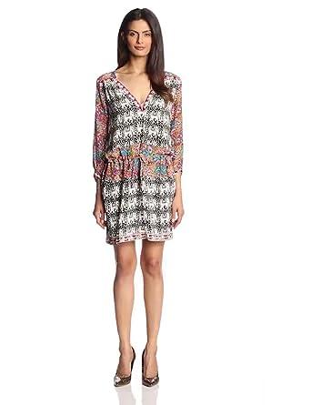 Tolani Women's Noelle Mini Dress, Elephants, X-Small