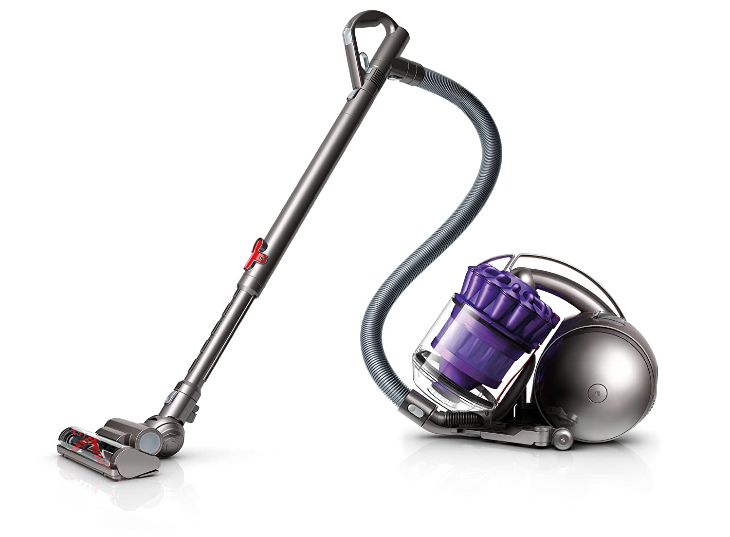 The Dyson DC39 Animal is a Canister vacuum. It doesn't take up much space and removes pet hair very easily.