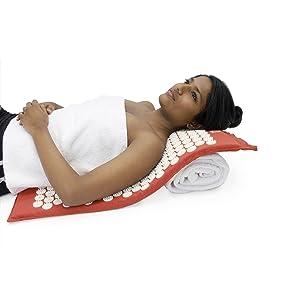 Sky Blue Hemp Acupressure Massage Mat with carry-bag