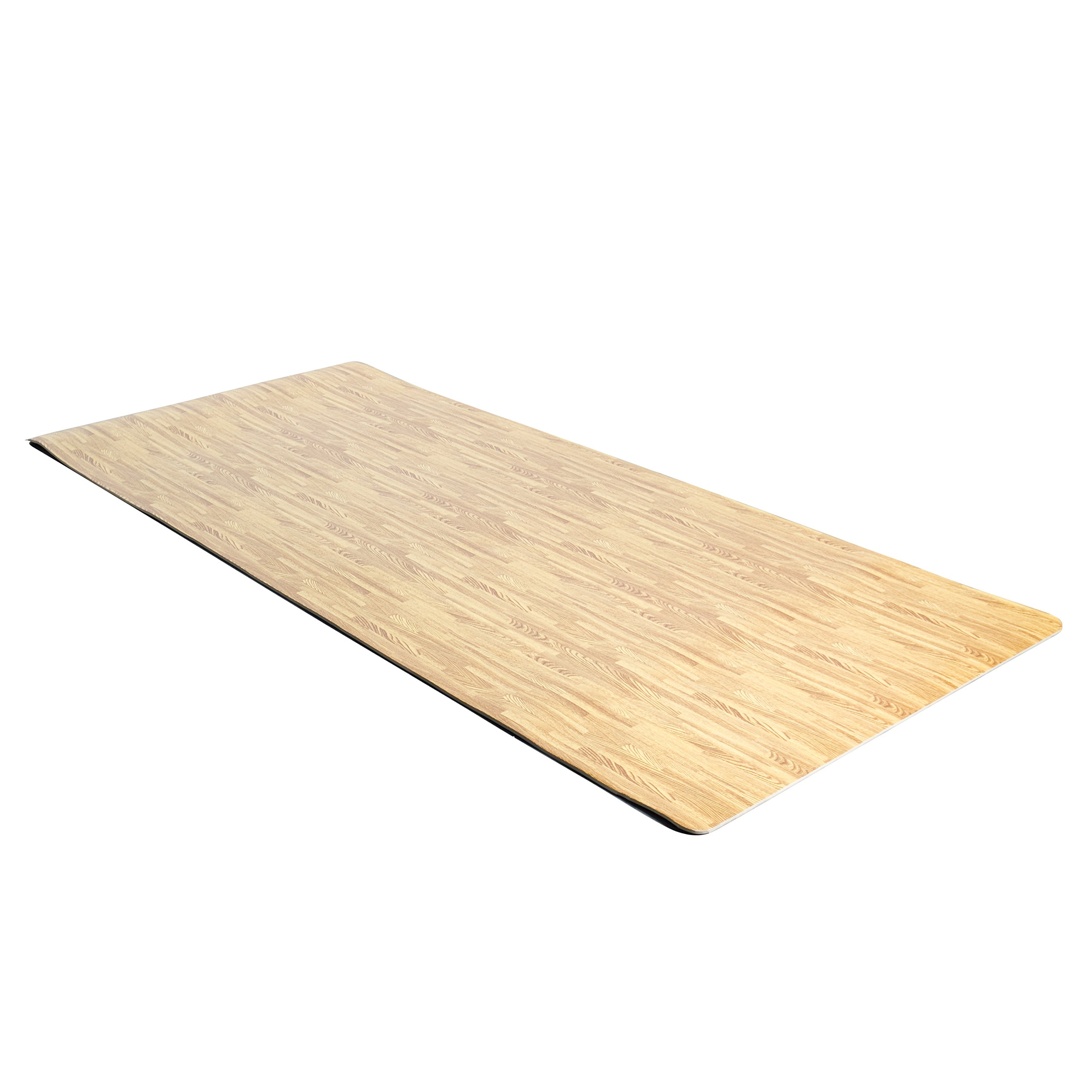 Cap barbell roll up antimicrobial eva foam mat wood style