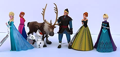 Bullyland - Disneys la reine des Neiges - Set 7 figurines NEUF !