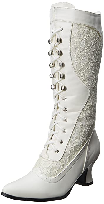 Ladies Victorian Boots & Shoes Lace Heel Boot  AT vintagedancer.com