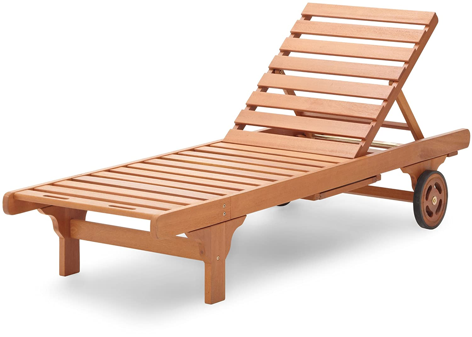 Basics Hardwood Chaise Lounge
