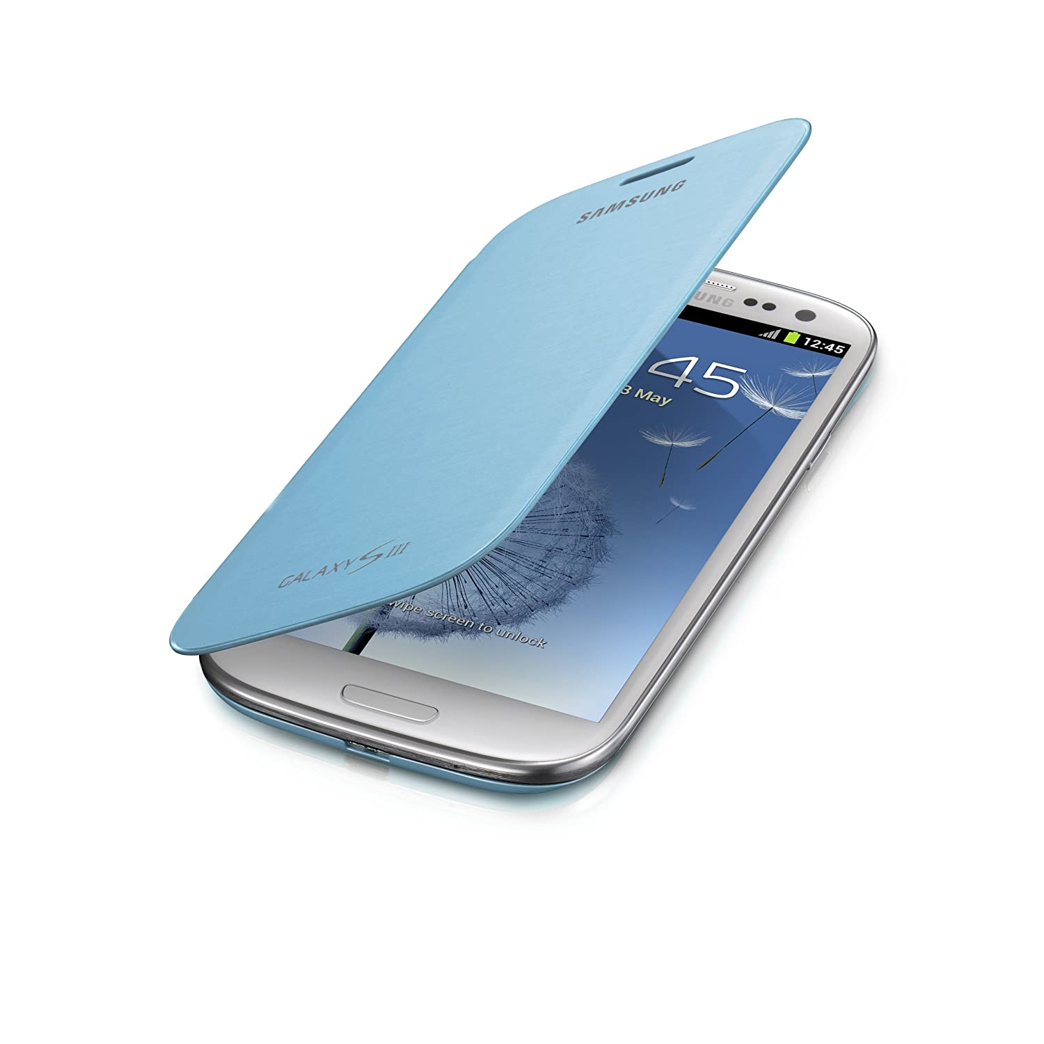 Samsung Flip Cover Case for Samsung Galaxy S3 (Light Blue) $17.09