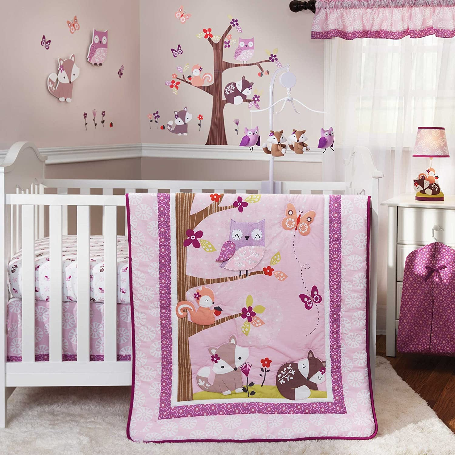 Bedtime Originals Lavender Woods Baby Bedding