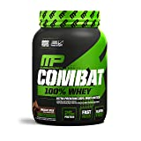 MusclePharm Combat 100% Whey Protein Powder, Chocolate Milk, 2 Pound (Color: Brown, Tamaño: 2 lb.)
