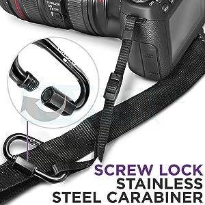 Camera Tether Safety Strap for DSLR Cameras by Altura Photo (2 Pack) (Color: Black, Tamaño: Camera Safety Tether (2 Pack))