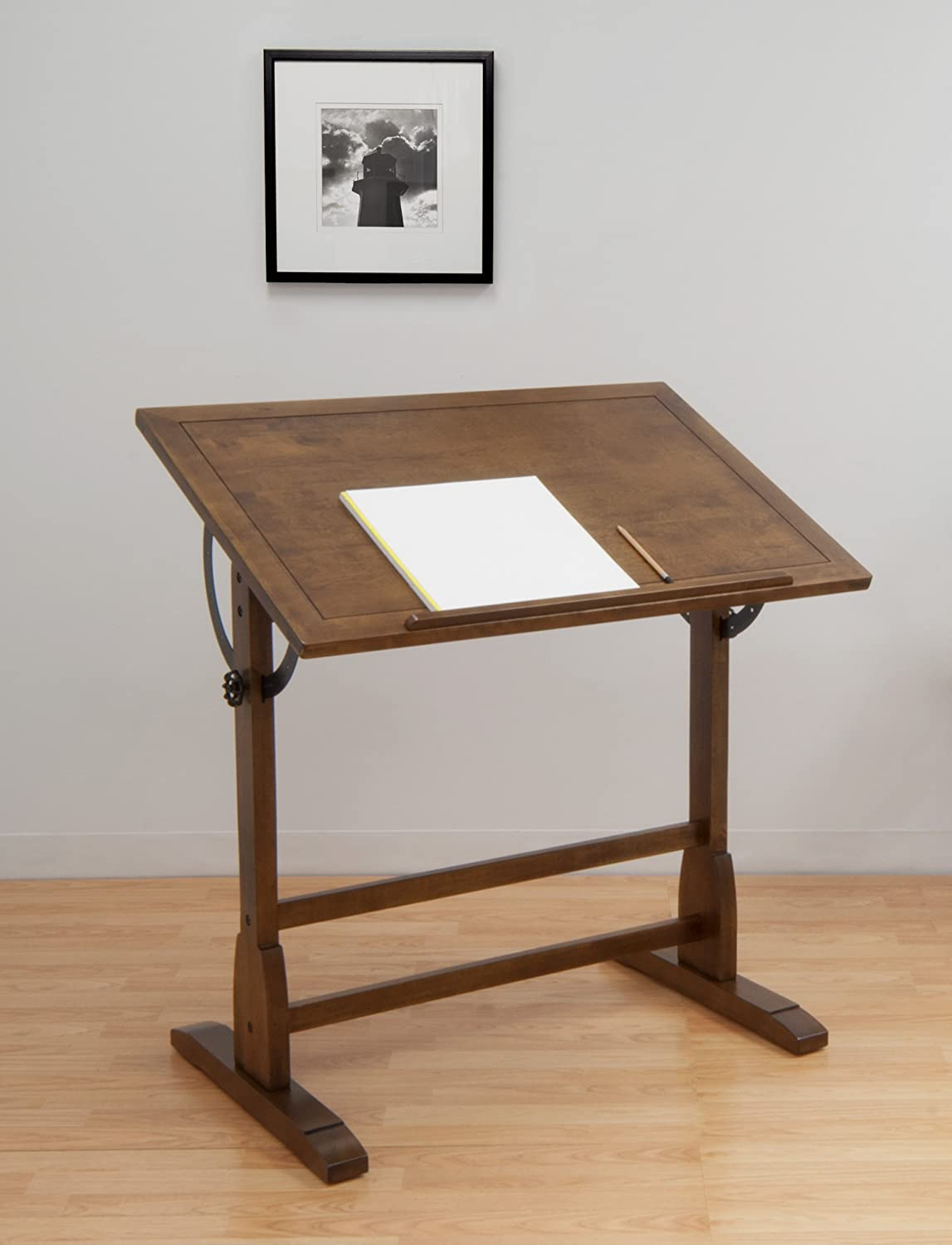 New vintage drafting table oak wood art crafts architects - Table studio ...