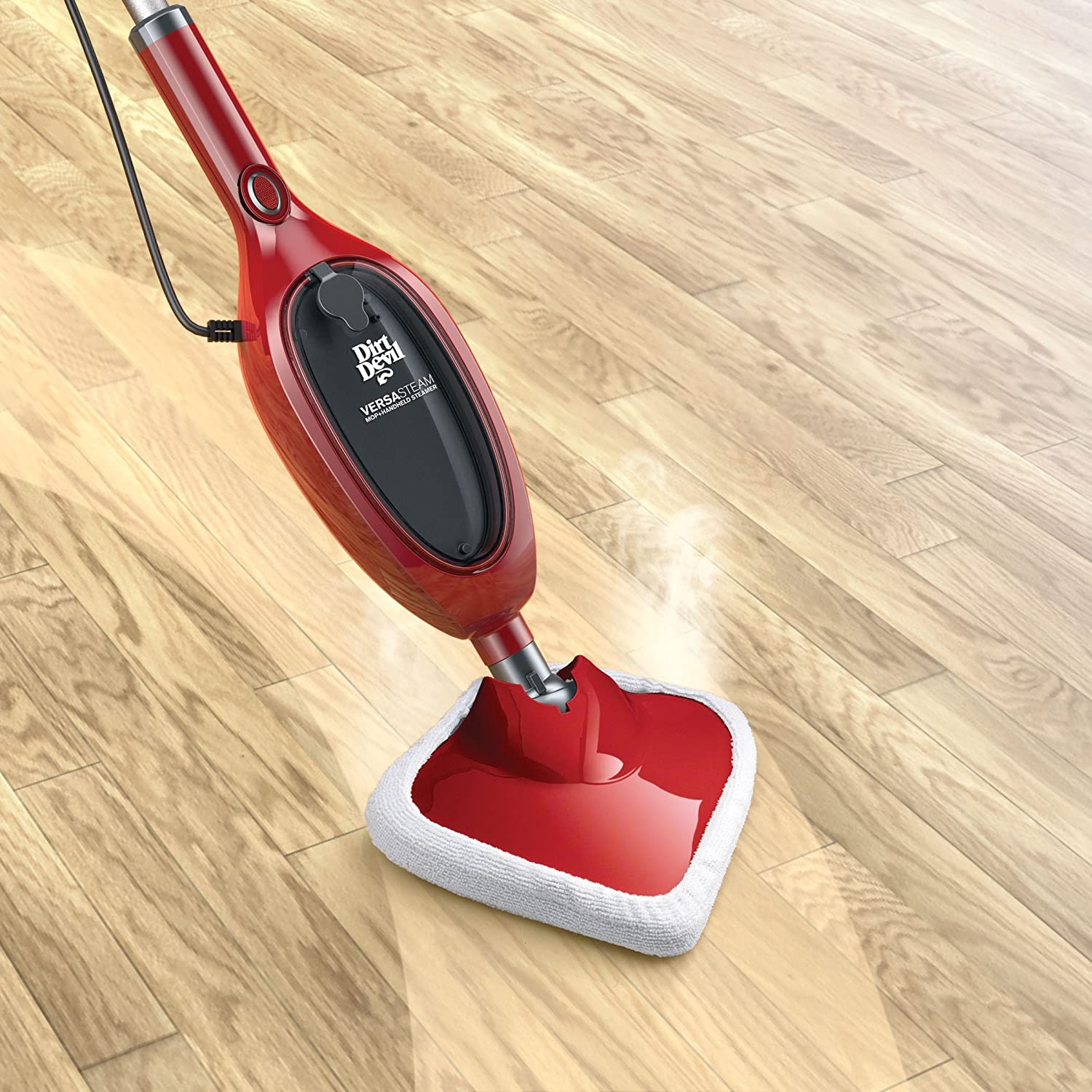 Dirt Devil Versa Mop with Detachable Handheld Steam Cleaner, PD20100, Red