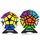 Megaminx Speed Cube Puzzle Toy Kilominx 2x2 3x3 Stickers Cube Set Pack with Cube Stand holder Kids Toy Games Christmas Gift Black (Color: 2x2 3x3 Black Megaminx Set)