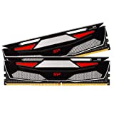 Silicon Power 32GB (2 x 16GB) DDR4-RAM-2666MHz (PC4 21300) 288-pin CL19 1.2V Non ECC Unbuffered 16GB-UDIMM Desktop Memory with Heatsink- Compatible with Intel Skylake/Haswell-E Platform (Color: Dual Pack w/Heatsink, Tamaño: 32GB (2x16GB)-2666MHz)