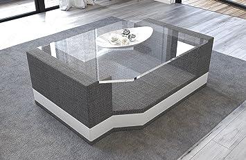 Tavolino da salotto MESSANA con tessuto in vetro di sicurezza