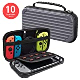 Nintendo Switch Carrying Case Protective Hard Shell Slim Travel Carry Case - Dark Gray - Nintendo Wii; GameCube (Color: Grey)