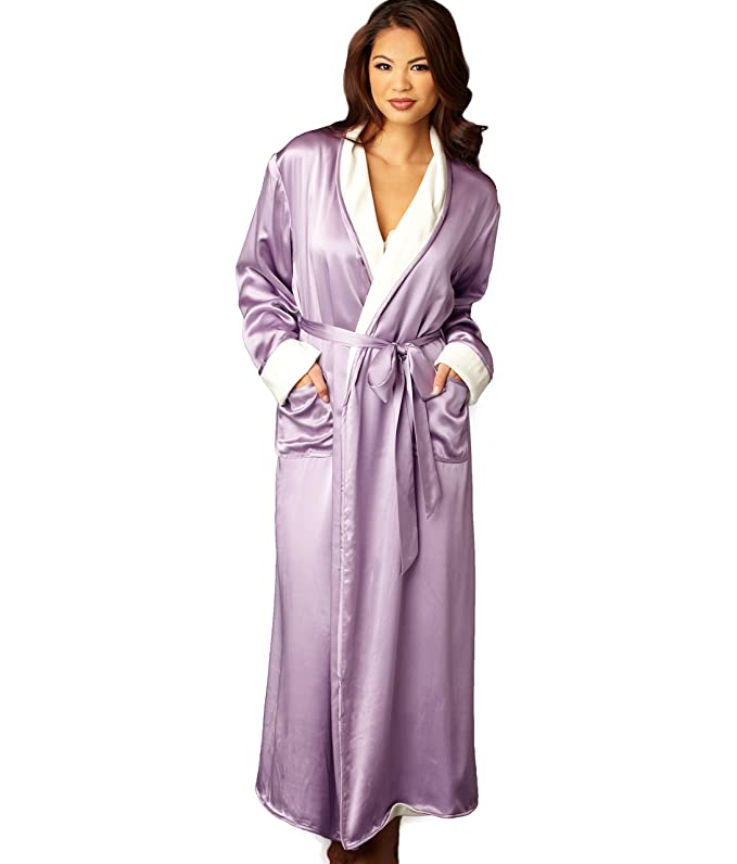 Vintage Inspired Nightgowns, Robes, Pajamas, Baby Dolls Robe Fully Reversible Robe Shawl Collar Cuffs $250.00 AT vintagedancer.com