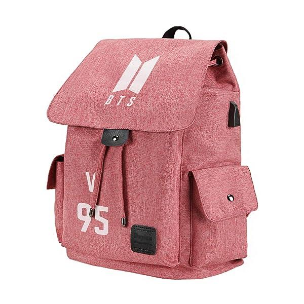 Fanstown Kpop BTS Hiphop Backpack pin Botton Set Canvas Messenger Bag with lomo Cards