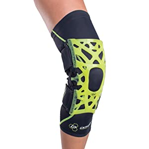 DonJoy Performance WEBTECH Knee Support Brace with Compression Undersleeve: Slime Green, Small (Color: Slime Green, Tamaño: Small)