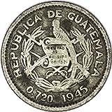 1945 GT Guatemala KM# 238.1 Silver 5 Centavo Good