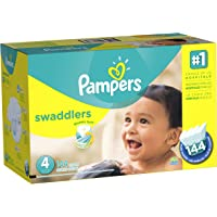 Pampers Swaddlers Diapers Economy Pack Plus, Size 4 (144 Count)
