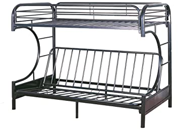 Milton Greens Stars 7565BK Orlando Twin Over Full Bunk Bed, Black