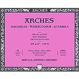 Arches Watercolor Paper Block, Hot Press, 16