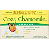 Bigelow Cozy Chamomile Herbal Tea Bags 20-Count Boxes (Pack of 6) Caffeine-Free Individual Herbal Tisane Bags, for Hot Tea or Iced Tea, Drink Plain or Sweetened with Honey or Sugar (Tamaño: 20 Count (Pack of 6))