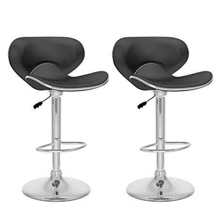 CorLiving B-502-VPD Curved Form Fitting Adjustable Bar Stool, Set of 2: Amazon.ca: Home & Kitchen
