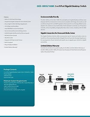 D-Link 8-Port Gigabit Switch (DGS-1008G)