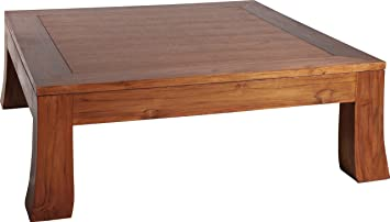 Square Coffee Table (Teak Feet Concave L104