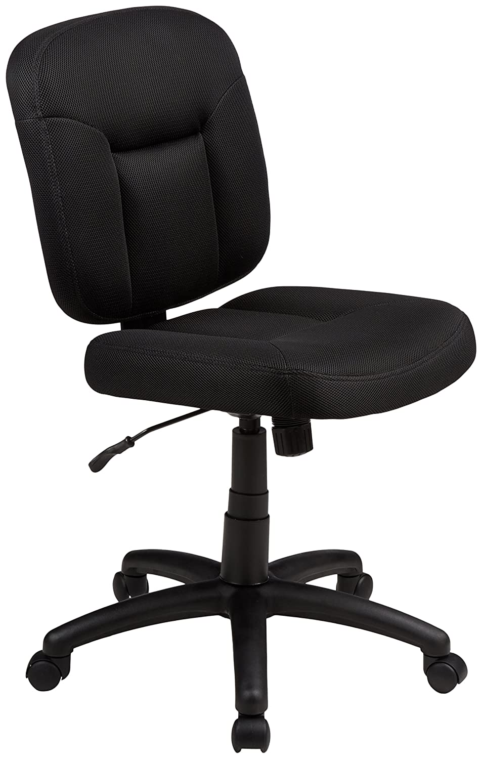 Best office chair 2016 - Ergonomic Task Chair Upholstered In Black Fabric