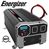 ENERGIZER 3000 Watt Power Inverter converts 12V DC from car's battery to 120 Volt AC