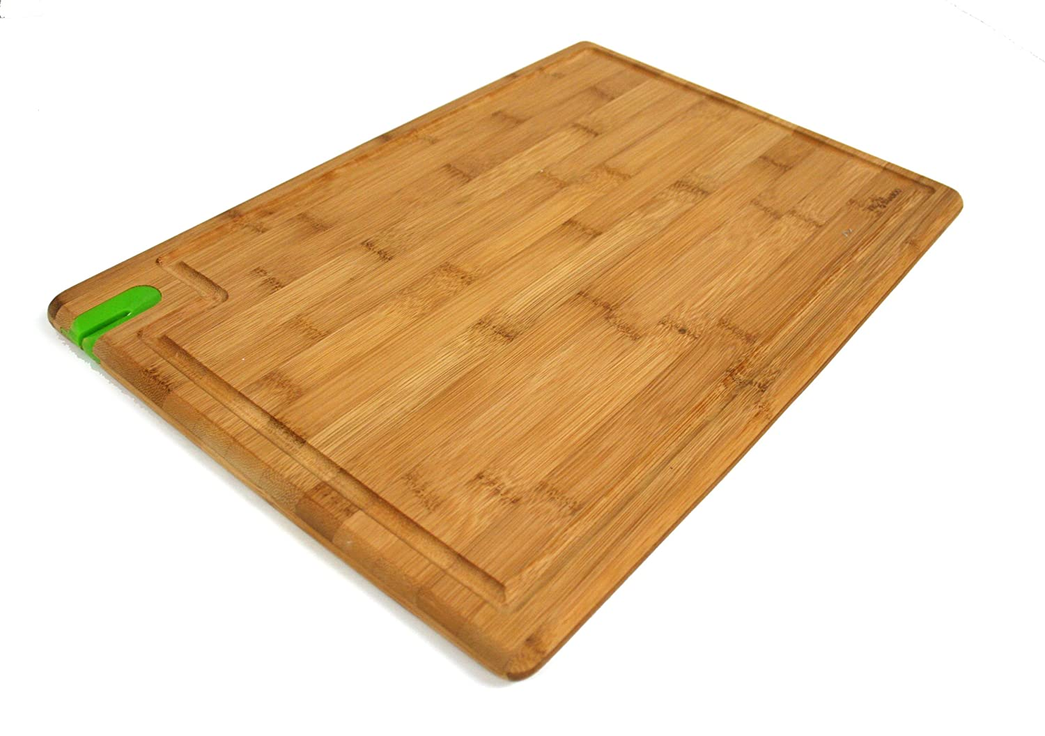 trubamboo x large bamboo cutting board with grooves built in knife sharpener ebay. Black Bedroom Furniture Sets. Home Design Ideas