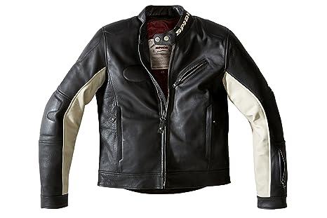 Spidi p 142-341 spidi 901293 roadrunner veste en cuir noir taille 56/glace