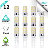 LED G9 Bulb Soft White 3000K 3 Watt (25-30 Watt Halogen Light Bulb Equivalent), G9 Base LED Dimmable 300 Lumens 120 Volt 360 Beam Angle Lighting LED Light Bulbs (Pack of 12) (Color: 3000k Soft White, Tamaño: 3 Watts)