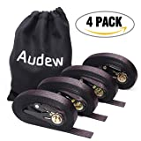 AUDEW Ratchet Tie Down Straps 4 Pack Ratchet Straps 20 FT-2400Lb Break Strength Cargo Straps , Heavy Duty Lashing Straps