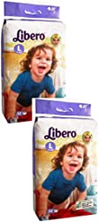 Libero Large Size Open Diapers (2 packs, 38 Count)