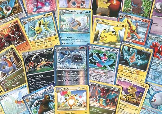 100 Assorted Pokemon Trading Cards with Bonus 6 Free Holo