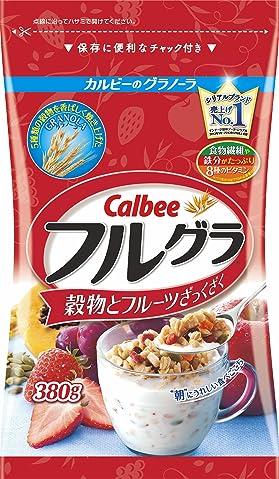 日本Amazon海淘:Calbee 水果颗粒果仁谷物营养麦片380g
