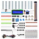 SunFounder Electronics Fun Kit with 1602 LCD Module,breadboard,LED,Resistor for Arduino UNO MEGA2560 Raspberry Pi (Color: LCD1602 Electronic Kit)
