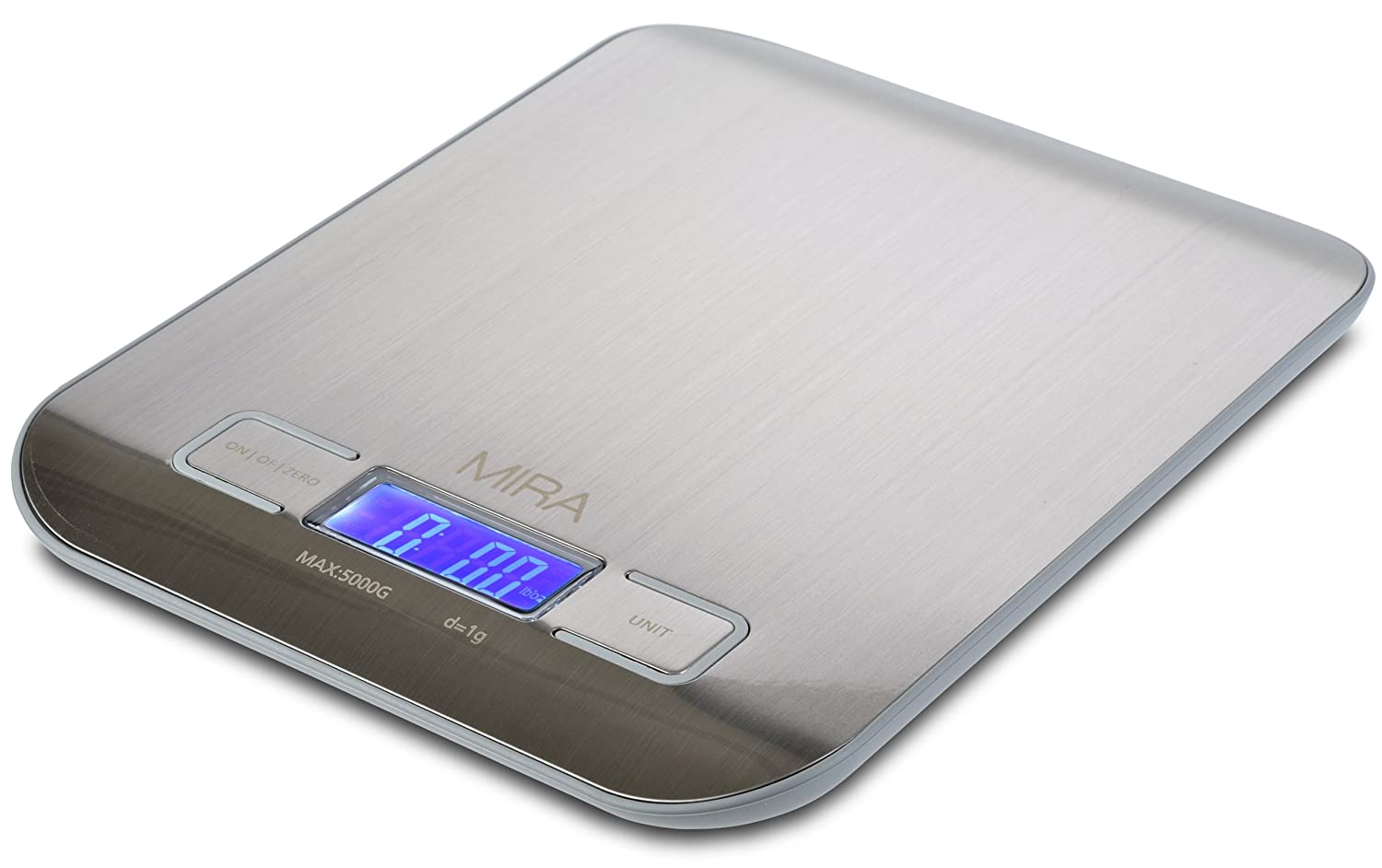 MIRA Compact Stainless Steel Digital Kitchen Scale