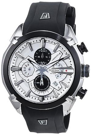 d09b644a6d Festina - F6819/1 - Montre Homme - Quartz - Chronographe - Chronographe -  Bracelet Caoutchouc Noir