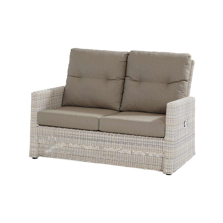 Aqua-Saar 2 Sitzer Lounge Sofa Korfu verstellbar Polyrattan Elzas inkl Kissen günstig kaufen