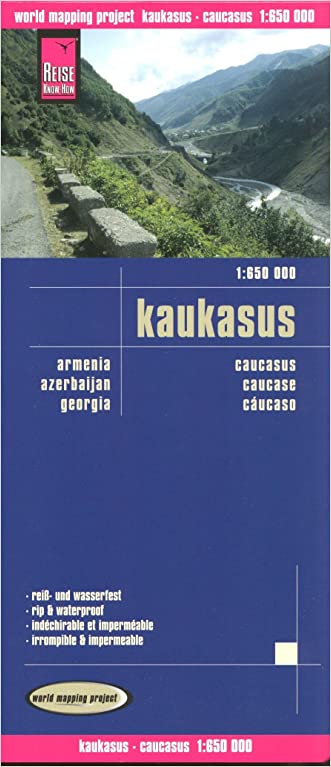 Caucasus 1:650,000 (incl. Armenia, Georgia, Azerbaijan) Travel Map REISE