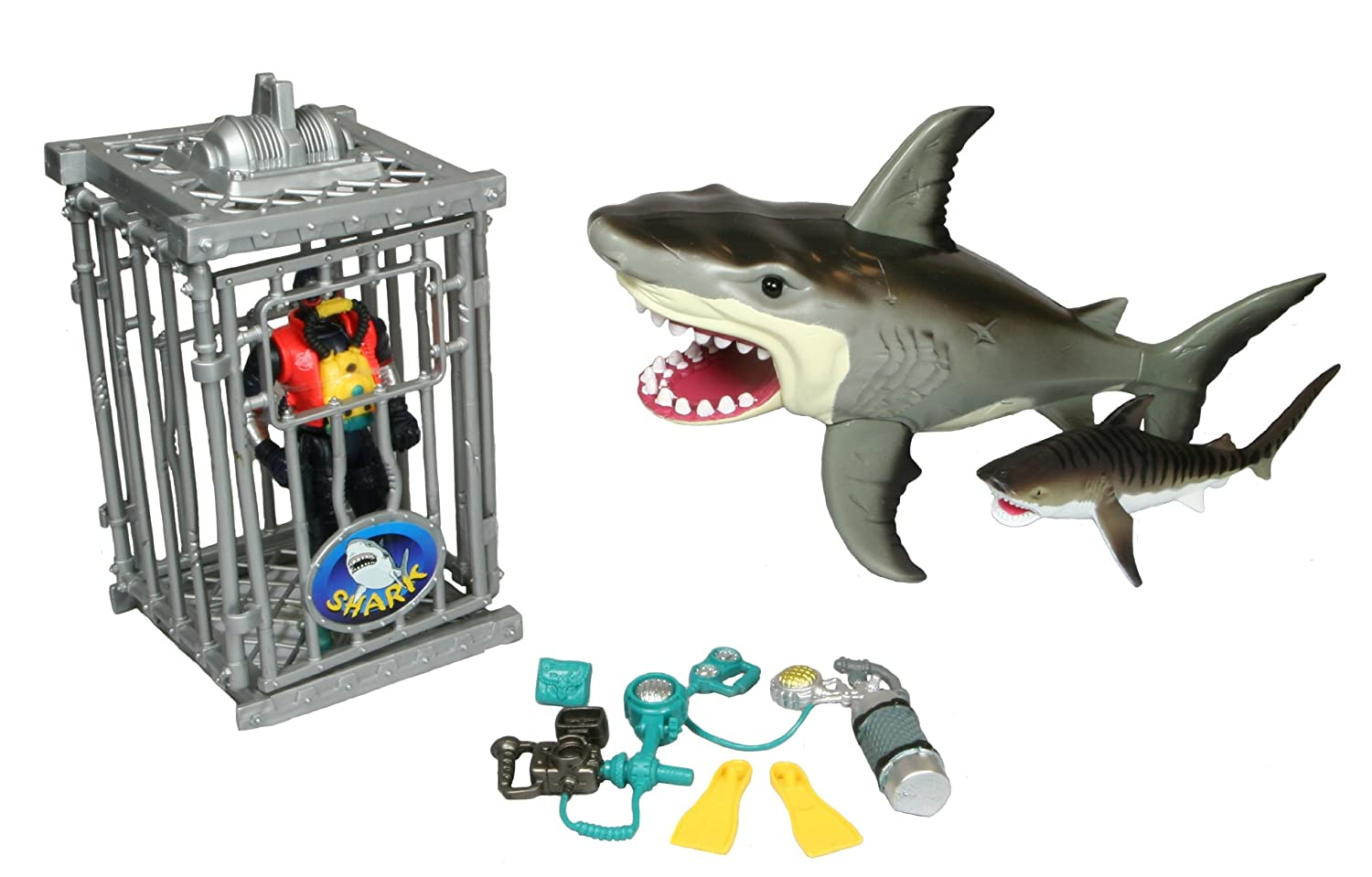 Shark Toy Set : Shark whale playset and great white animal tiger toy set