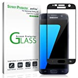 Galaxy S7 Screen Protector Glass (3D Curved Full Screen Coverage), amFilm Bye-Bye-Bubble Samsung Galaxy S7 Tempered Glass Screen Protector [NOT S7 Edge] Screen Protector 2016