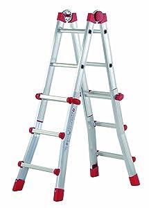 Hailo 7516151 AluMultifunktionsTeleskopleiter MTL, 4x3 Sprossen  Verwendbar als Anlege und Schiebeleiter, beidseitige Steh und Treppenleiter  BaumarktKritiken und weitere Infos