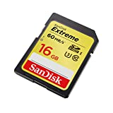 Memoria SanDisk de 16GB Extreme U3/UHS-I SDHC con hasta 60MB de lectura 40MB de escritura (SDSDXN-016G-G46)