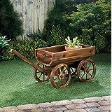 Planters Garden Decor Wooden Planter Garden Decorative Wine Barrel Wagon Great To Put On Your Patio