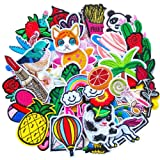 Qingxi Charm 48pcs Random Assorted Styles Sewing on/Iron on Embroidered Patches Clothes Dress Hat Pants Shoes Curtain Sewing Decorating DIY Craft Embarrassment Applique Patches (Assorted 48pcs) (Color: Assorted 48pcs)