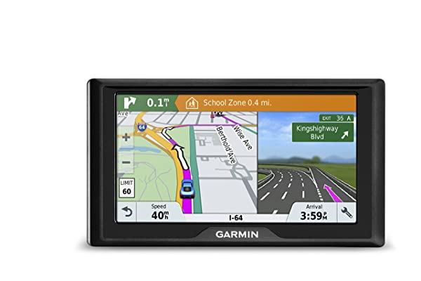 Garmin Drive 61 USA+CAN LM GPS Navigator System with Lifetime Maps, Spoken Turn-By-Turn Directions, Direct Access, Driver Alerts, TripAdvisor and Foursquare Data (Tamaño: 6)