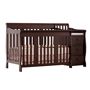 stork craft portofino 4 in 1 fixed side convertible crib and changer baby gear and accessories. Black Bedroom Furniture Sets. Home Design Ideas